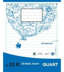 PAGRO Heft Quart 20 Blatt liniert mit Rahmen