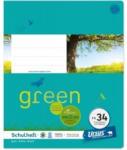Pagro URSUS GREEN Schulheft quart FX34 mit Rahmen 20 Blatt kariert