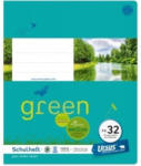 Pagro URSUS GREEN Schulheft quart FX32 mit Rahmen 20 Blatt liniert