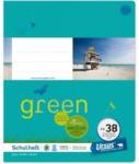 Pagro URSUS GREEN Schulheft quart FX38 mit Korrekturrand 20 Blatt kariert