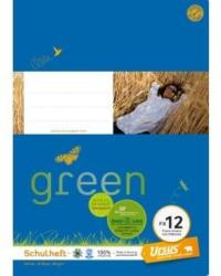 URSUS GREEN Schulheft A4 FX12 mit Rahmen 20 Blatt liniert