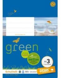 URSUS GREEN Schulheft A5 FX3 20 Blatt kariert