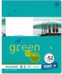 Pagro URSUS GREEN Schulheft quart FX52 mit Rahmen 40 Blatt liniert