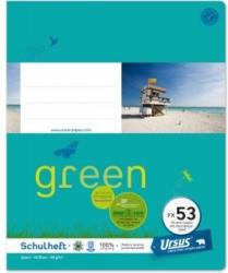 URSUS GREEN Schulheft quart FX53 mit Korrekturrand 40 Blatt liniert