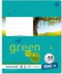 Pagro URSUS GREEN Schulheft quart FX55 mit Korrekturrand 40 Blatt kariert