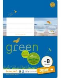 URSUS GREEN Schulheft A5 FX8 Vierling 20 Blatt liniert