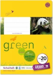 URSUS GREEN Schulheft A5 FX20 40 Blatt glatt