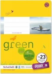 URSUS GREEN Schulheft A5 FX23 mit Korrekturrand 40 Blatt liniert