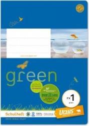 URSUS GREEN Schulheft A5 FX1 20 Blatt glatt