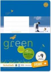 URSUS GREEN Schulheft A5 FX9 20 Blatt hochkariert