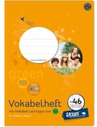 URSUS GREEN Vokabelheft A4 FX46 zwei Mittelstriche 40 Blatt liniert