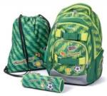 Pagro Schulrucksackset Oxy Style Mini - Fussball 3 Teile grün