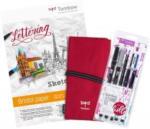 Pagro TOMBOW Handlettering-Set Beginner inkl. Zeichenblock und Pennal