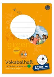 URSUS GREEN Vokabelheft A5 FX6 mit Mittelstrich 20 Blatt liniert