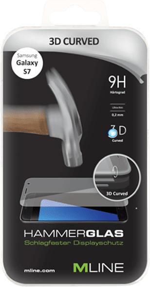 Hammerglas 3D Curved für Samsung Galaxy S7