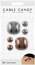Kabelmanager Mixed Beans Universal, 6 Stk, grau/braun (CCBEANSETMIX2)