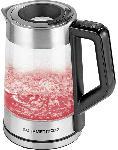 Saturn Glas-Wasserkocher Smart 1,7l 2200W - Edelstahl/Schwarz