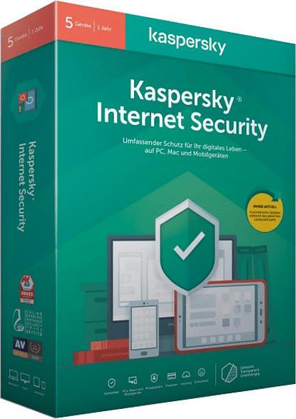 Kaspersky Internet Security 5 Geräte (Code in a Box)