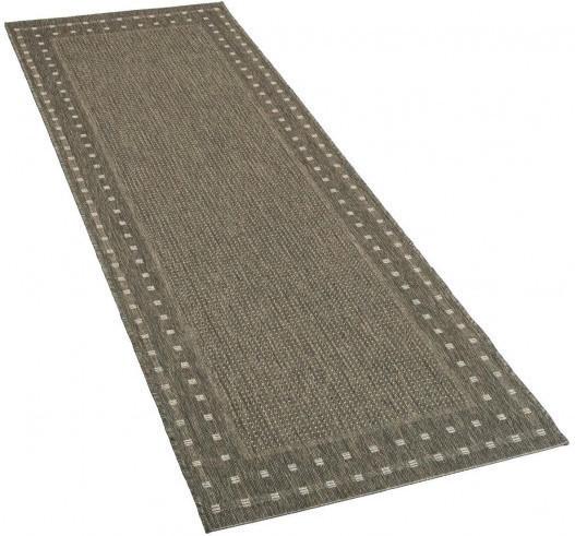 Teppich Ambiente ca. 80 x 240 cm dunkelgrau