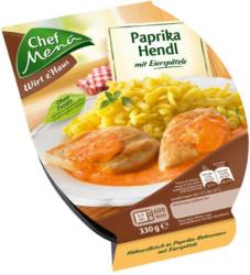 Chef Menü Paprikahendl mit Spätzle