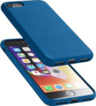 Saturn Silikon Case Sensation mit soft touch Oberfläche für Apple iPhone SE(2020), iPhone 7 und iPhone 8, blau