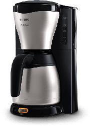 Kaffeemaschine HD7546/20 Gaia für gemahlenen Kaffee mit Thermoskanne, schwarz/metall