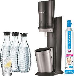 Vorteilspack Wassersprudler Crystal 2.0 Schwarz