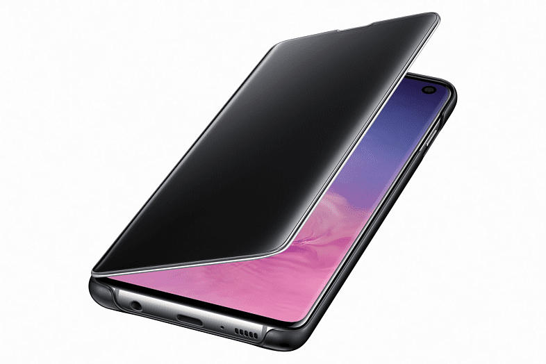 Schutzhülle Clear View für Samsung Galaxy S10, schwarz