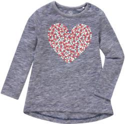 Baby Langarmshirt mit gummiertem Herz-Print