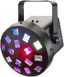 Saturn LED Lichteffekt NightMotion 3x3W RGB LEDs mit IR Fernbedienung