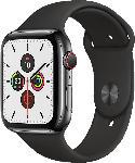 Saturn Watch Series 5 GPS + Cell 44mm Edelstahlgehäuse Space Schwarz mit Sportarmband Schwarz
