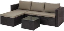 Loungegarnitur mit Sitzkissen 3-Teilig Sky, Schwarz/ Creme