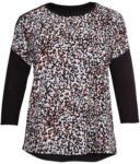 NKD Damen-Bluse mit Kontrast-Ärmeln, große Größen - bis 06.06.2020