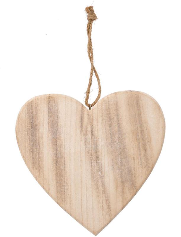 Großer Deko-Hänger Herz aus Holz