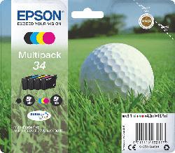 Tintenpatronen Multipack 34, schwarz/cyan/magenta/gelb (C13T34664010)