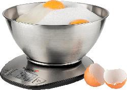 Küchenwaage Mila mit 1.5 L Edelstahlschüssel 75880 silber