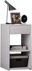 Beistelltisch mit Schublade Sledo Max B: 35 cm Weiß