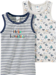 2 Baby Unterhemden mit Bären-Motiven