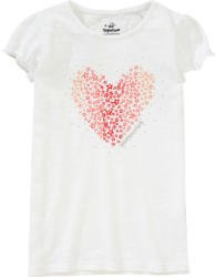 Mädchen T-Shirt mit Herz-Print
