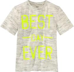 Jungen T-Shirt mit Neon-Schriftzug