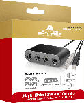 MediaMarkt SOFTWARE PYRAMIDE Switchadapter für Gamecubecontroller Nintendo Switch Adapter, Schwarz