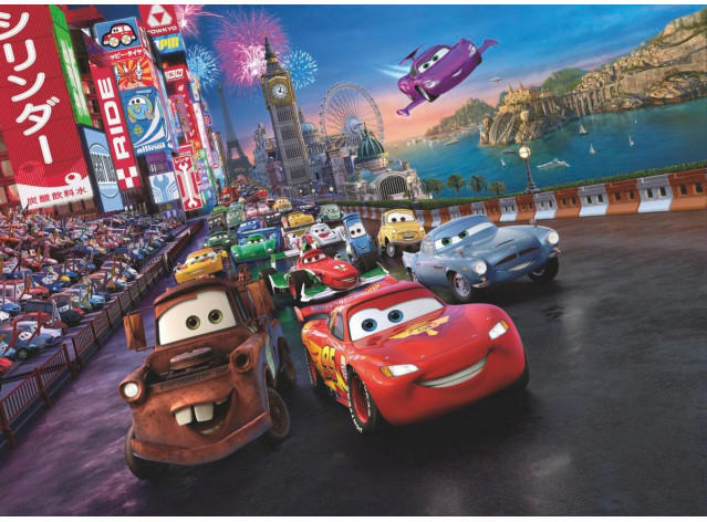 Fototapete Cars Race ca. 254 x 184 cm