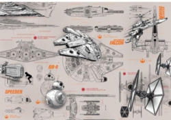 Fototapete Star Wars Blueprints ca. 368 x 254 cm