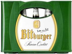 Bitburger Pils, Alkoholfrei, Premium Kellerbier oder Radler 0,0 % 20 x 0,5/24 x 0,33 Liter, jeder Kasten