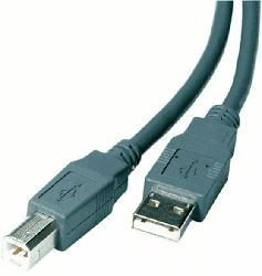 USB 2.0 kompatibles Kabel 1.8m Stecker Typ A auf Stecker Typ B, grau