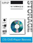 MediaMarkt CD/DVD Papier-Umschläge, 100er Pack weiß