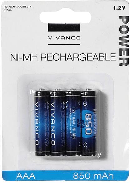 Akku-Set AAA 4Stk. wiederaufladbare Batterien, 850mAh