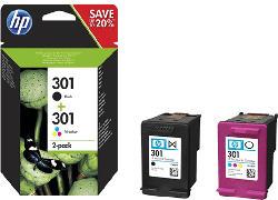 Nr. 301 Black + Colour, 2er-Pack Druckerpatronen (N9J72AE)