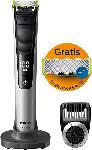 MediaMarkt OneBlade Pro QP6520/60 Trimmen, Stylen, Rasieren (14 Stufen) + Ersatzklinge, silber