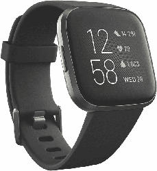 Smartwatch Versa 2 NFC Aluminium, Gr. S&L, schwarz/carbon